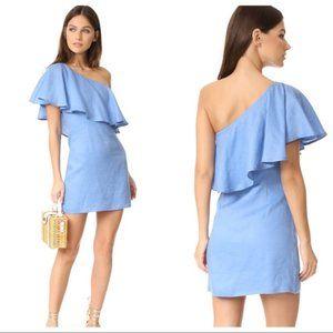 REVOLVE CAPULET Clara Ruffle One Shoulder Dress S